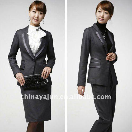 Traje De La Mujer  Uniformes Para Damas  Oficina De Dise  Os Faldas