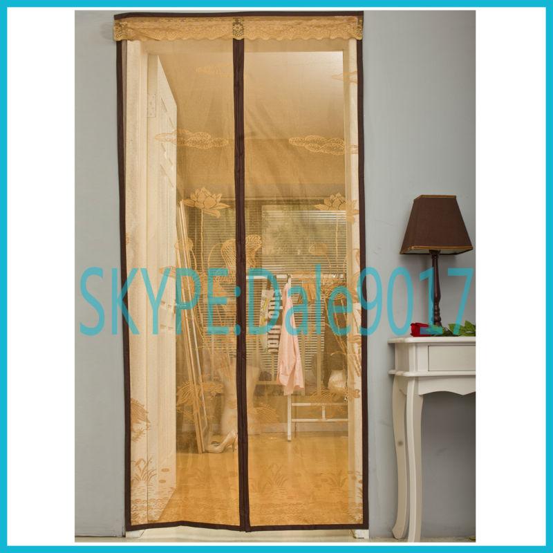Magn tique porte rideau ecrans pour portes fen tres id for Rideau porte fenetre exterieur