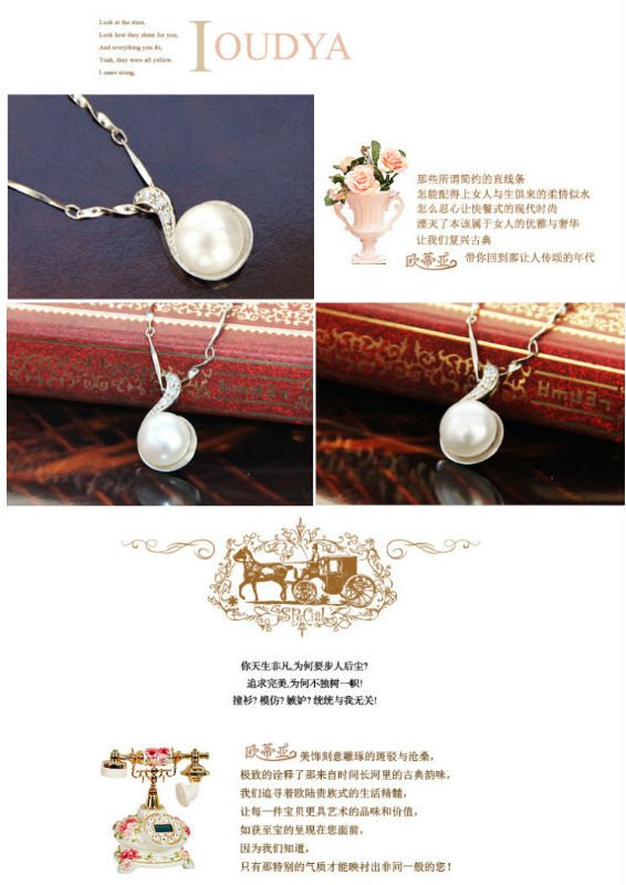 925 Silver With Natural Pearl Pendants SPL0001P