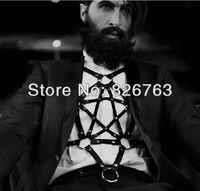 новые моды ручной сексуальный ремень груди кольцо пряжки скобка кожа тела Бондаж пояса ожерелье