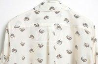 Женские блузки и Рубашки 2013 NEW Z*RA Sexy Vintage Metal Finishing Leopard Head Pattern Lapel Collar Ladies' Chiffon Shirt Ship/3 Size:S M L/A1598