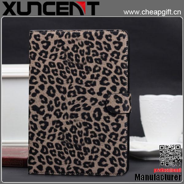 Leopard grain 360 degree rotation pu leather for iPad Mini case