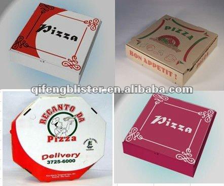 подгонянные коробки пиццы manufacure/печатные коробки пиццы/дешевовысокое качество еды коробки пиццы.