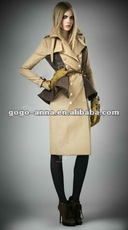 2013 New Fashion Long Wool Coat for Women