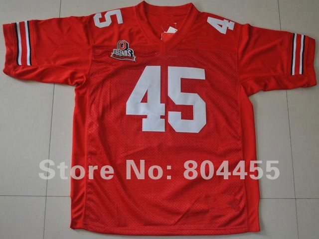 Free Shipping  -Ohio State Buckeyes 45 Archie Griffin  Red Throwback College Football Jersey Size : 48-56  Mix Order