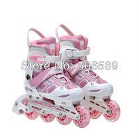 Роликовые коньки детей и взрослых только на коньках ботинки мигающий колесо первое колесо