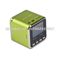 Потребительская электроника STRONG BASS Portable mini speker TF Micro SD FM RADIO MP3 LCD SCREEN HOST FUNCTION GIFT Cube JH-MD08D