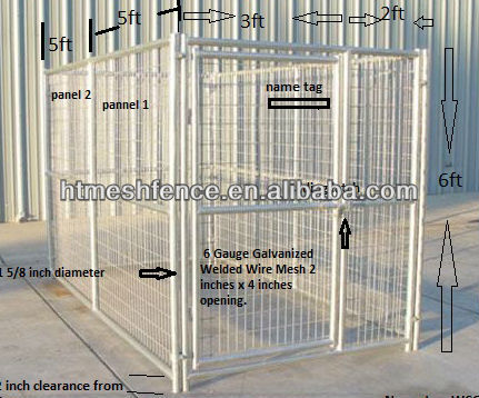 Outdoor Dog Run Kennel 6'X10' hot-dipped galvanized finish