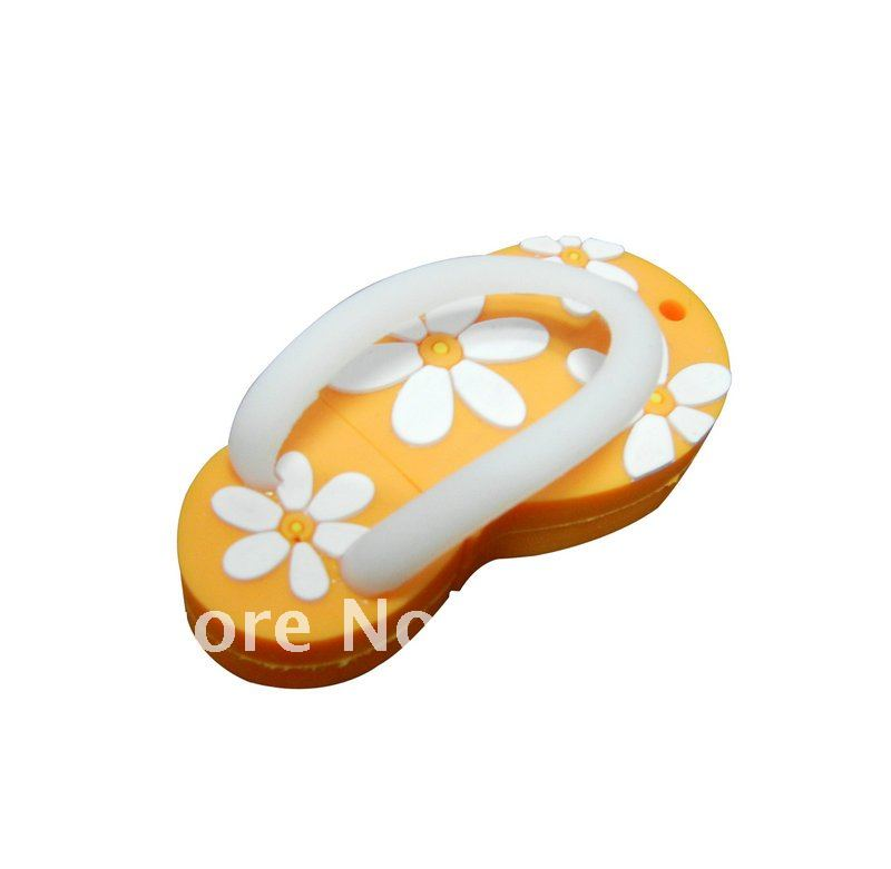 Free shipping HOT! new arrival ! Plum Slippers flash usb drives , pendrive , stick memory PP bag individual packing