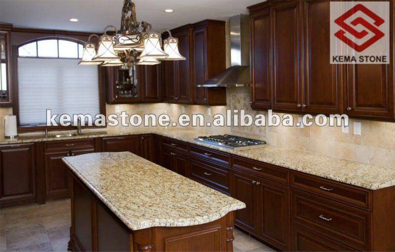 Nuevo oro veneciano granito prefabricadas cocina islas encimeras y ...
