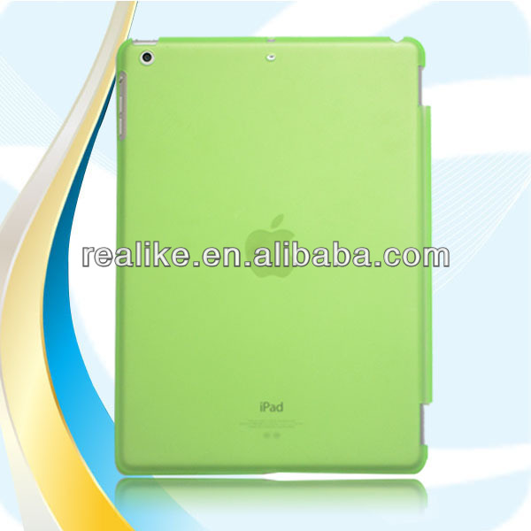 Factory supply detachable PU leather smart cover for ipad air,ultra thin case for ipad air,wake/sleep feature
