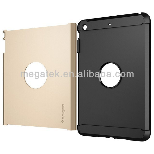 Tablet case cover silicon +pc Touch armor SGP case for ipad mini, for OEM ipad case