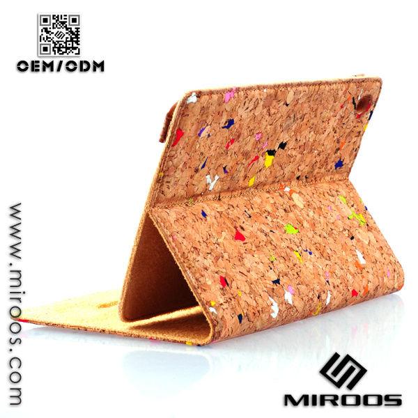 2014 New Luxury Colorful Cork Case for iPad mini