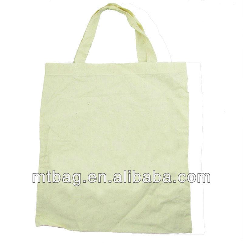 simple design shopping bag plain white cotton canvas tote bag