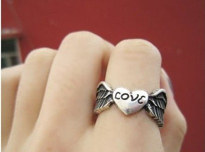 Free shipping! New arrival glaze LOVE finger ring,,popular in Europe/U.S/Korea markets,wholesale prices #81305,81304,A100