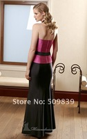 Платье для матери невесты Customized Simple Elegant Strapless Shirred Bodice Floor Length Satin Mother Evening Party Dresses