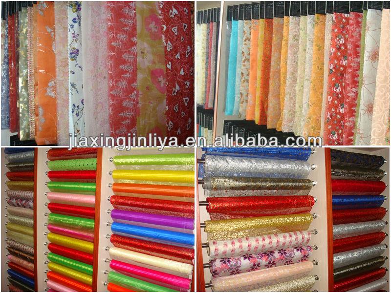 Organza jacquard curtain fabric