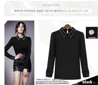 Потребительские товары 2013 Autumn New Women'S European And American Classic Perfect Small Lapel Wild Diamond Thin Sweater