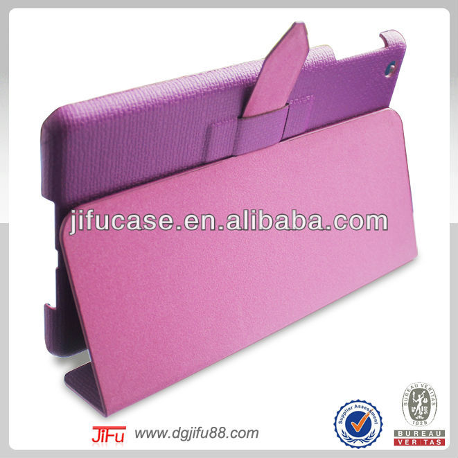 For iPad mini foldable leather case,2014 new products for iPad mini case,