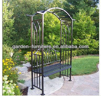 Arco de ferro forjado latada caramanch o do jardim do for Arco decorativo jardin