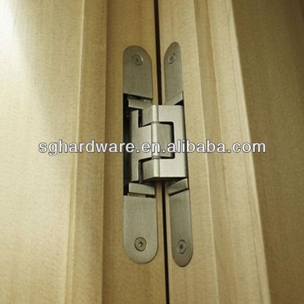 180 degree zinc alloy 3d adjustable concealed hinge for for 180 degree hinge door