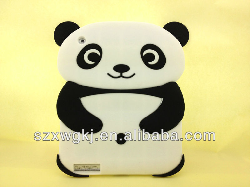 For ipad 3 silicone 3d animal case, 3d animal case for ipad 3