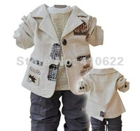 Комплект одежды для мальчиков Baby/Toddler's Autumn 3-piece suit, Outerwear + T-shirt + Pants, fashion baby wear, kids clothes