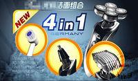 пять мужчин голову 4 in1 электрическое бритьё бритвой лица уход моющиеся Ротари Электробритва для мужчин