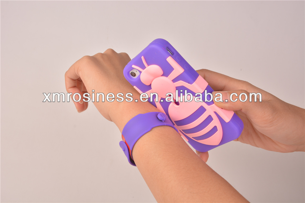 Wholesale Snap Band Easy Portability Silicone Cell Phone Cases For Samsung Galaxy S3 9300