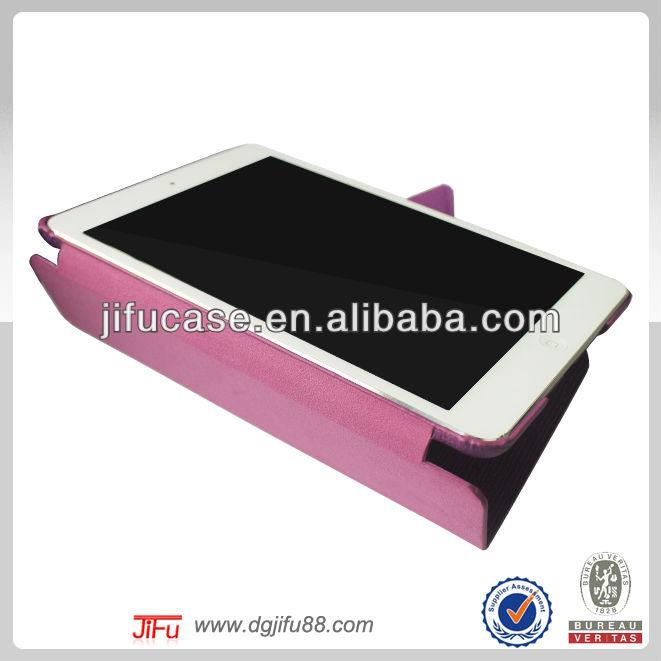 For iPad mini foldable leather case,2014 new products for iPad mini case,