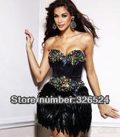Коктейльное платье Hot Sale 2013 New Design Zuhair Murad Prom Dresses Short Knee Lengh Cap Sleeve Cocktail Dresses CT137