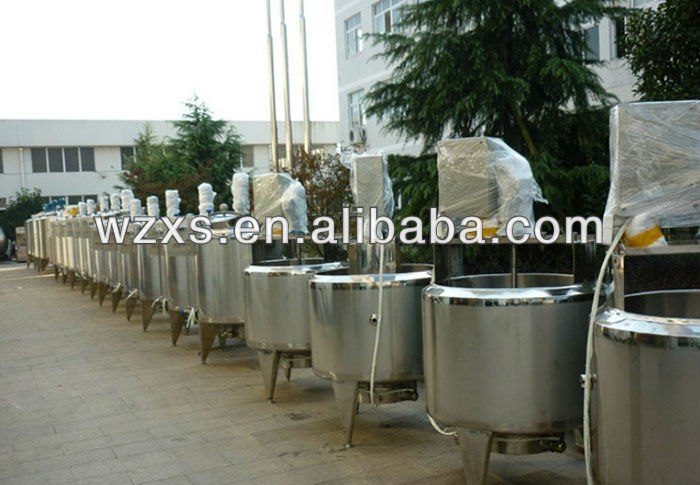 Stainless Steel Steam Jacketed Mixing Tank