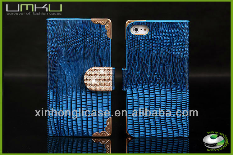 Luxury bling diamond leather case for iPhone 5 for iPhone 5