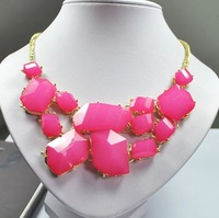 Min.order is $10 (mix order) Jewelry gift! 5colors  Fashion Western Geometry Irregular Statement Necklace Free shipping!