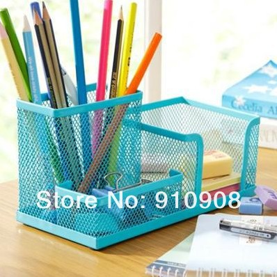 Cute metal stationery holders portfolio pen holder desk - Cute desk organizer ...