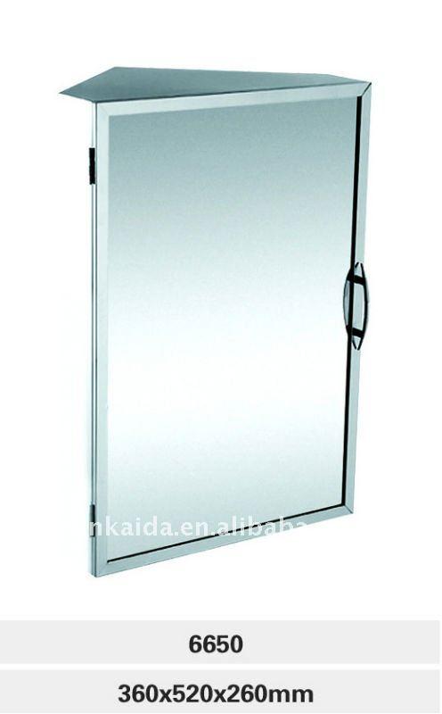 Salle de bains en acier inoxydable armoire 6650 meuble d 39 angle porte sim - Miroir d angle pour salle de bain ...
