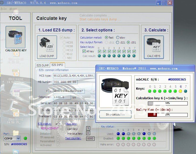 MB Dump Key Generator from EIS Super SKC Calculator      Super STAR key calculation tool