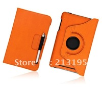 Free Shipping Multi-Function 360 Rotation Wallet Leather Case smart cover for Google Nexus 7 + Screen Protector + Pen
