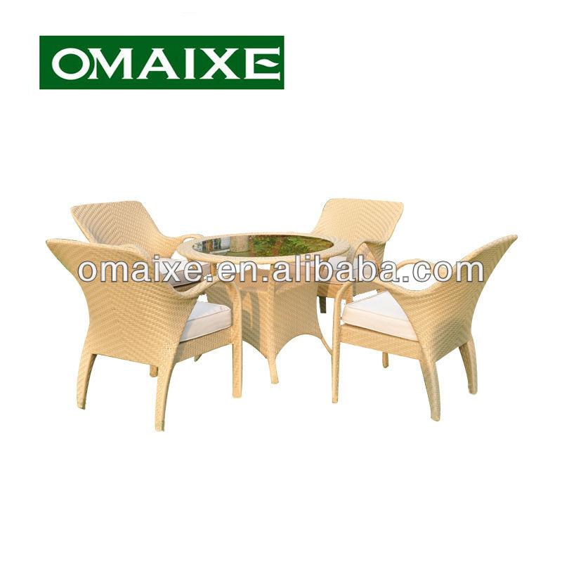 Loisirs patio table en osier meubles en rotin ensemble for Set de table en osier