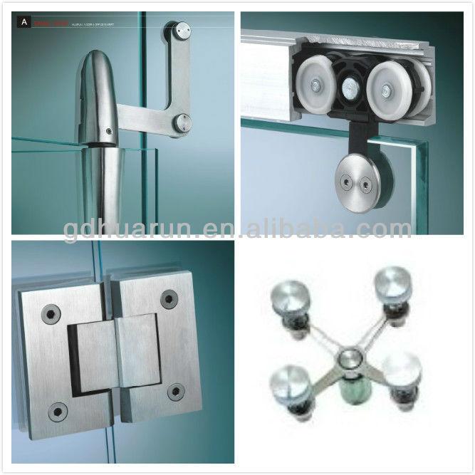 satin finish glass shower door hinges