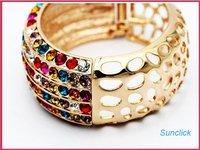 Ювелирный набор Austrian Royal Style Gold Plated XCC Jewerly Wrist Ring, BJS 63308, Swarovaskii Jewelry Design
