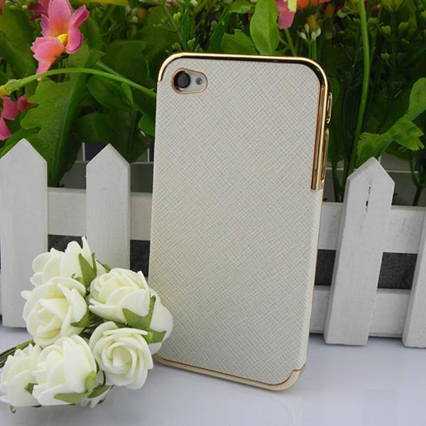 Wholesale PC+Crystal material waterproof phone cover phone protective cases for iPhone4/4S shell a lot of Colors