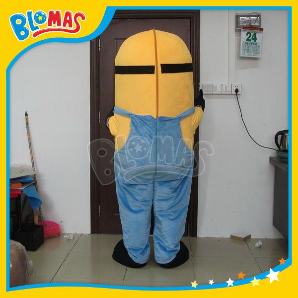 nuovi prodotti 2014 2 occhi Cattivissimo Me minion costume mascotte per gli adulti