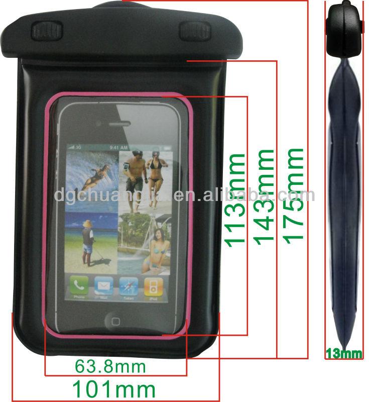 2014 popular mobile phone custom waterproof bags