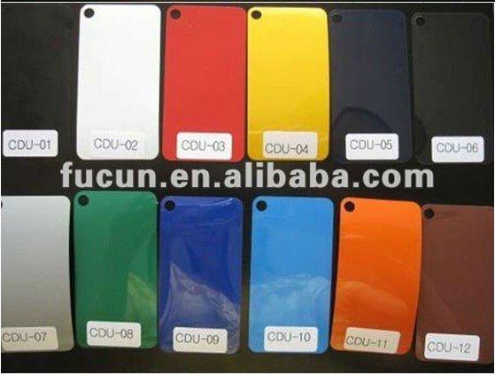 PU color chart 1