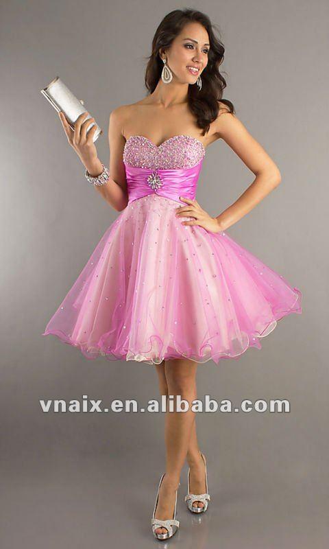 Puffy Prom Dresses Straps