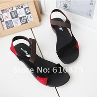 Женские сандалии high quality Pure cowhide Rome with a flat slope follows pure cowhide sandals
