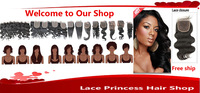"Cheap Virgin Brazilian Wavy Hair 8-18"" Lace Top Closure Body Wave 3.5x4"" Middle Part Lace Closure Bleached Knots"