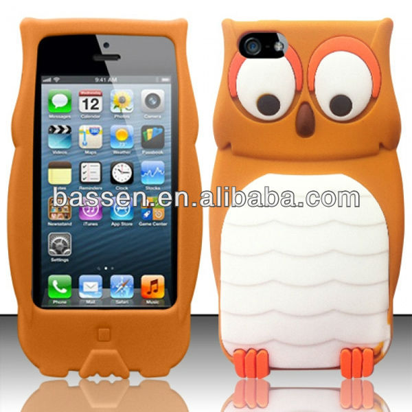 Cute Owl 3D Animal Gel Soft Skin Case Cover for iPhone 5