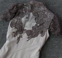 Новый Коктейль-приём Платья черного кружева вышитые платья мода прямые
